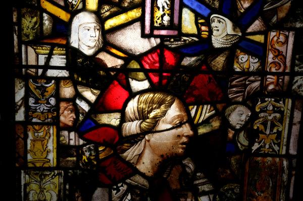 Vitrail de l'abbaye de Fontfroide