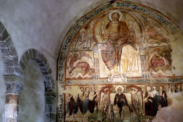 Fresque de l'abbaye de Lavaudieu