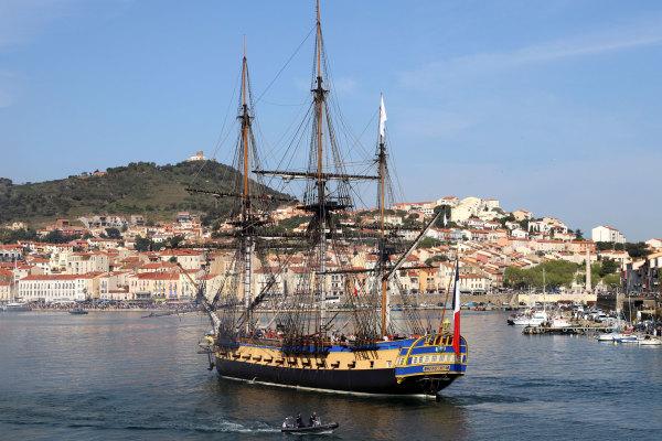 Arrivée Hermione à Port Vendres