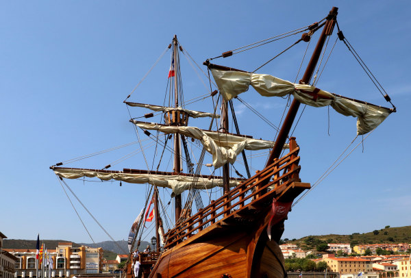Une réplique de la Santa Maria à Port Vendres