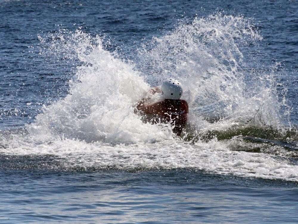 le téleski nautique du Barcares