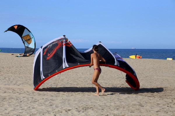 Kyte sur la plage de Leucate