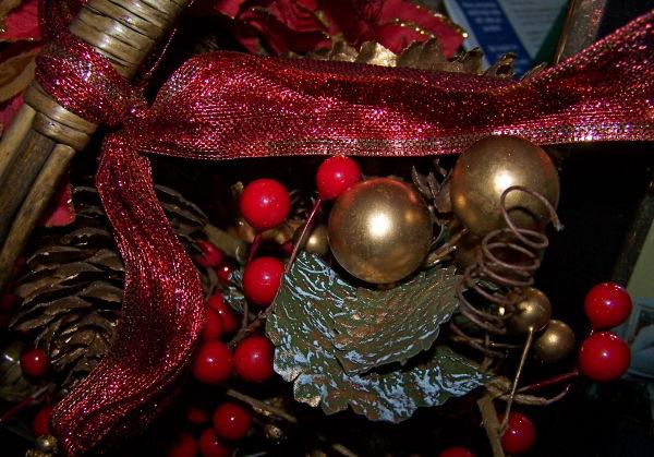 Christmas Basket Close-up