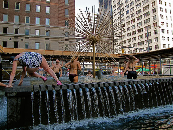 F is for ... Fountain Jumpers