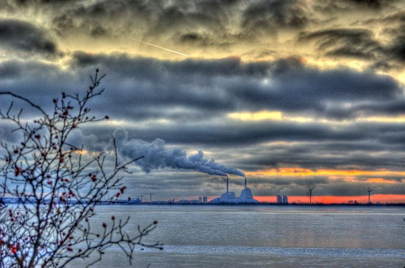 Winter sunset, Kalveboderne south of Copenhagen I