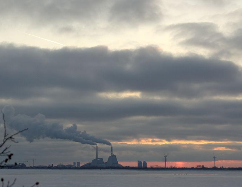 Winter sunset, Kalveboderne south of Copenhagen II