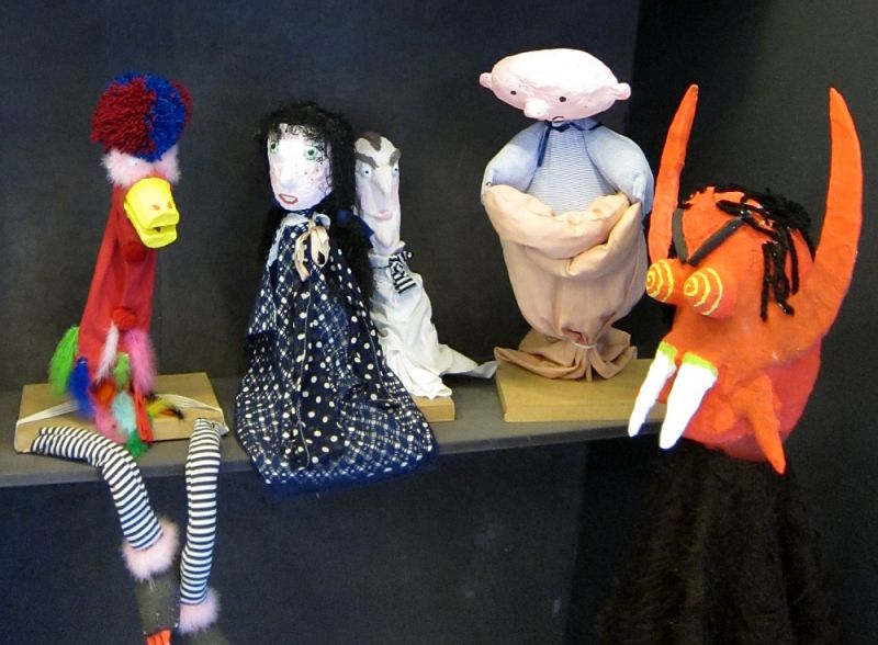 Puppets inspired by German painter Emil Nolde