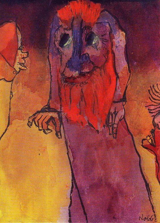 Redbearded treeman by Emil Nolde
