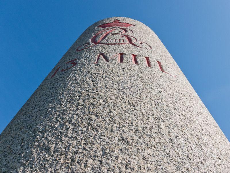 The 13 Mile stone close to Kalundborg, Zealand