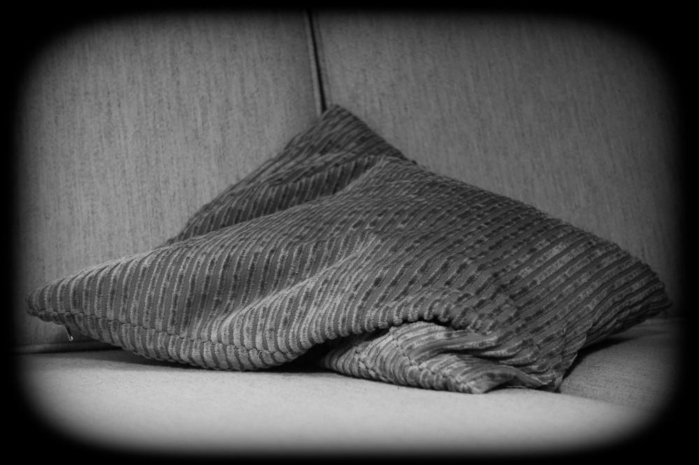Sofa pillow in closeup