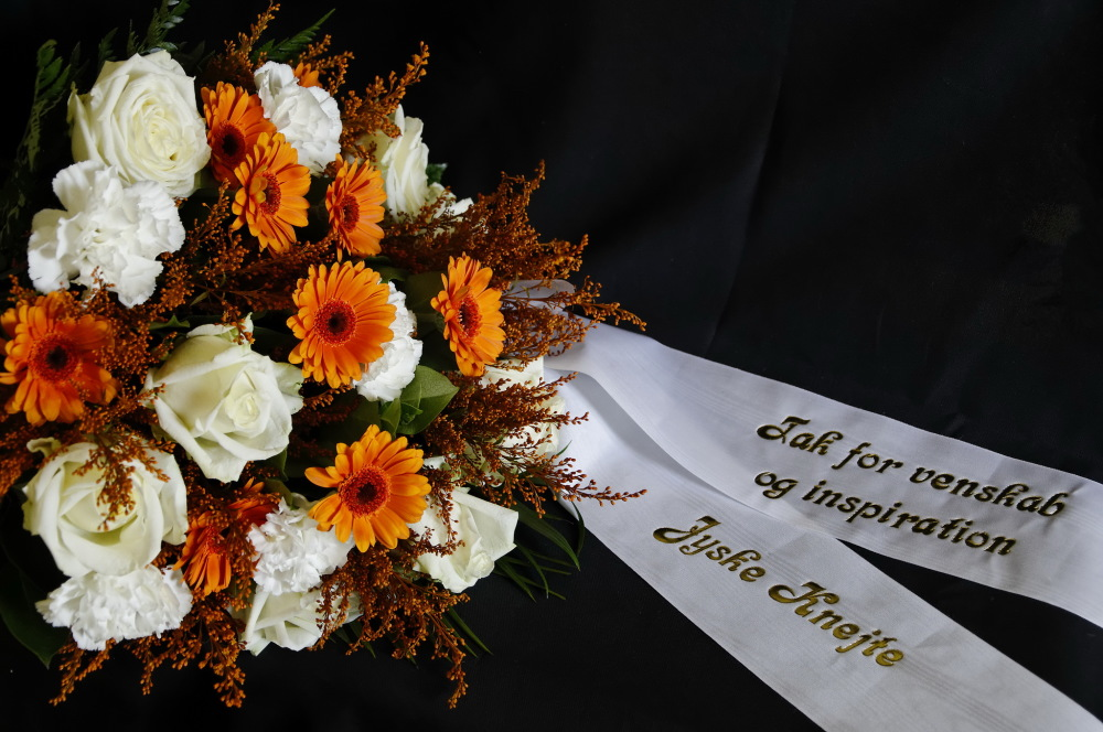 Flowers for the funeral of my friend