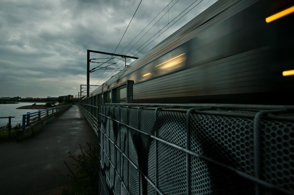 Train passing