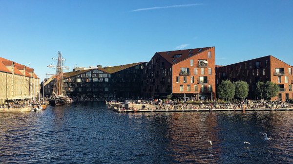 Summer life at Copenhagen harbour