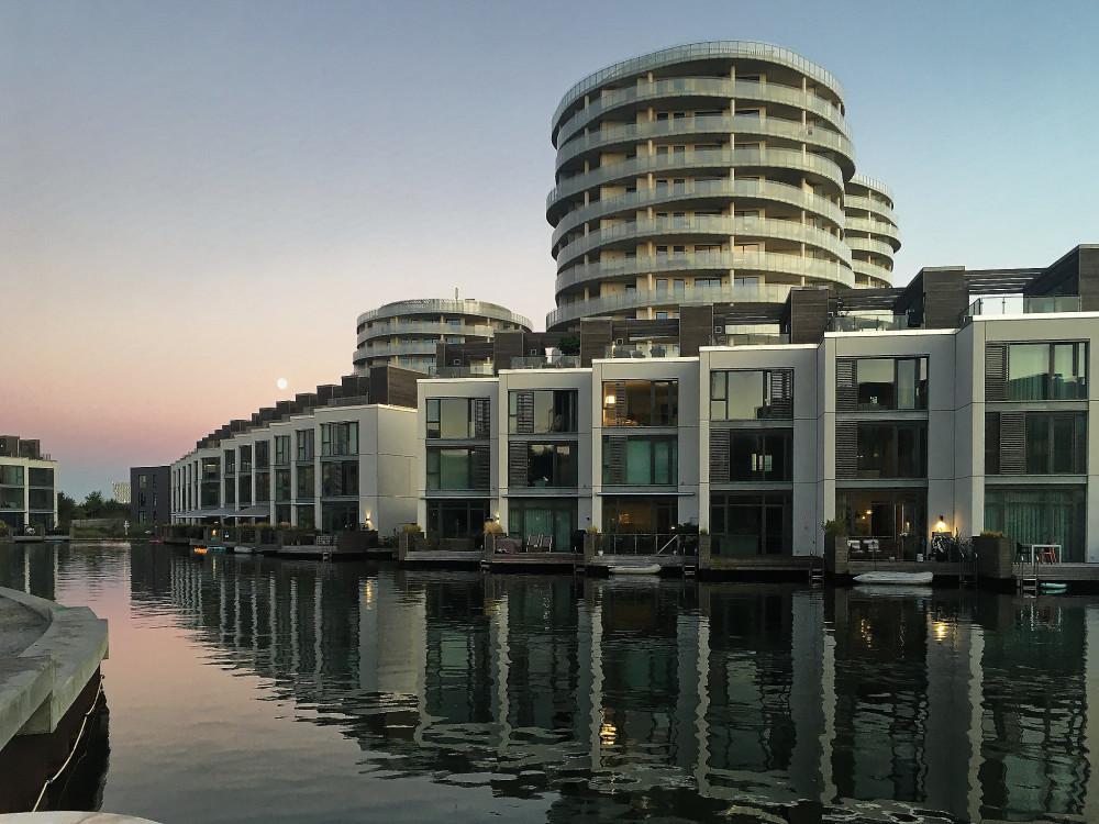 Futuristic architecture at Christianshavns Brygge