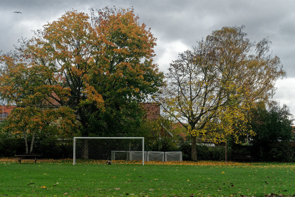 Fall at the sports ground