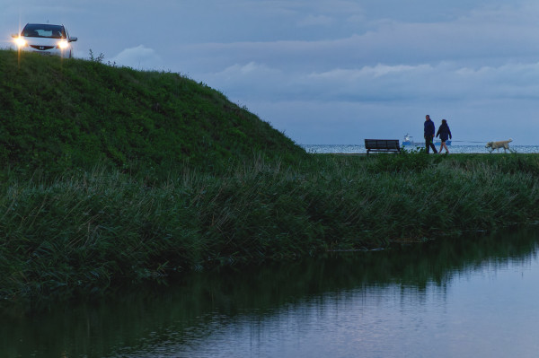 Dogwalking by Charlottenlund fortress