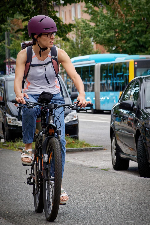 Female bicyclist, Copenhagen