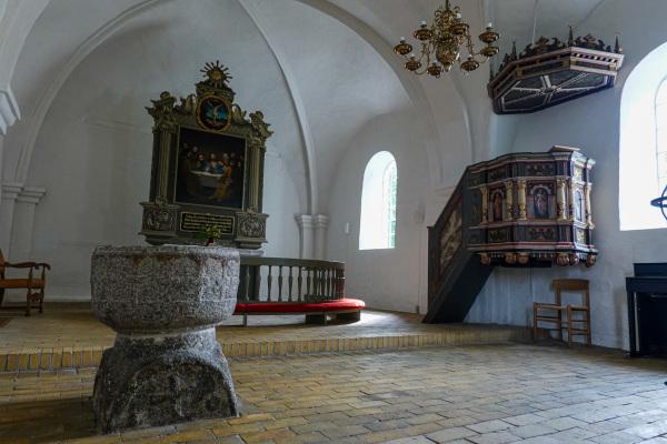 Apse of Østrup church, Funen