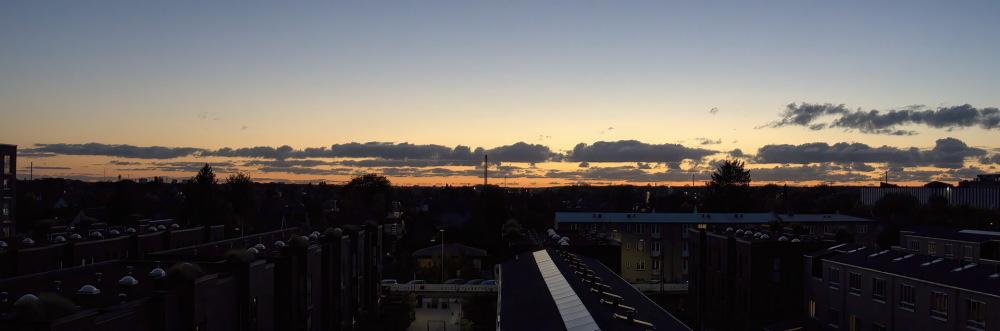 Autumn sundown skies