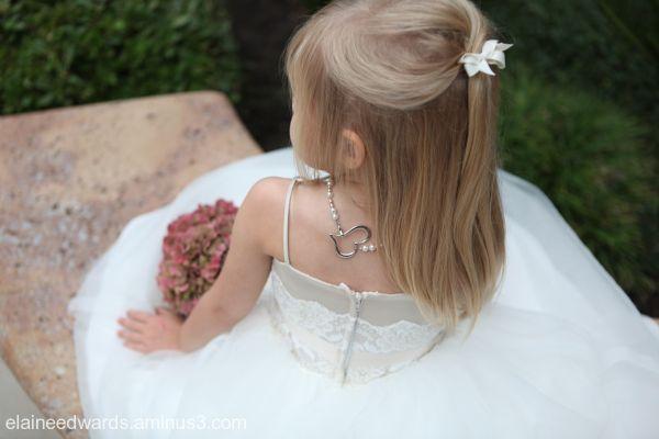wedding flower girl necklace child