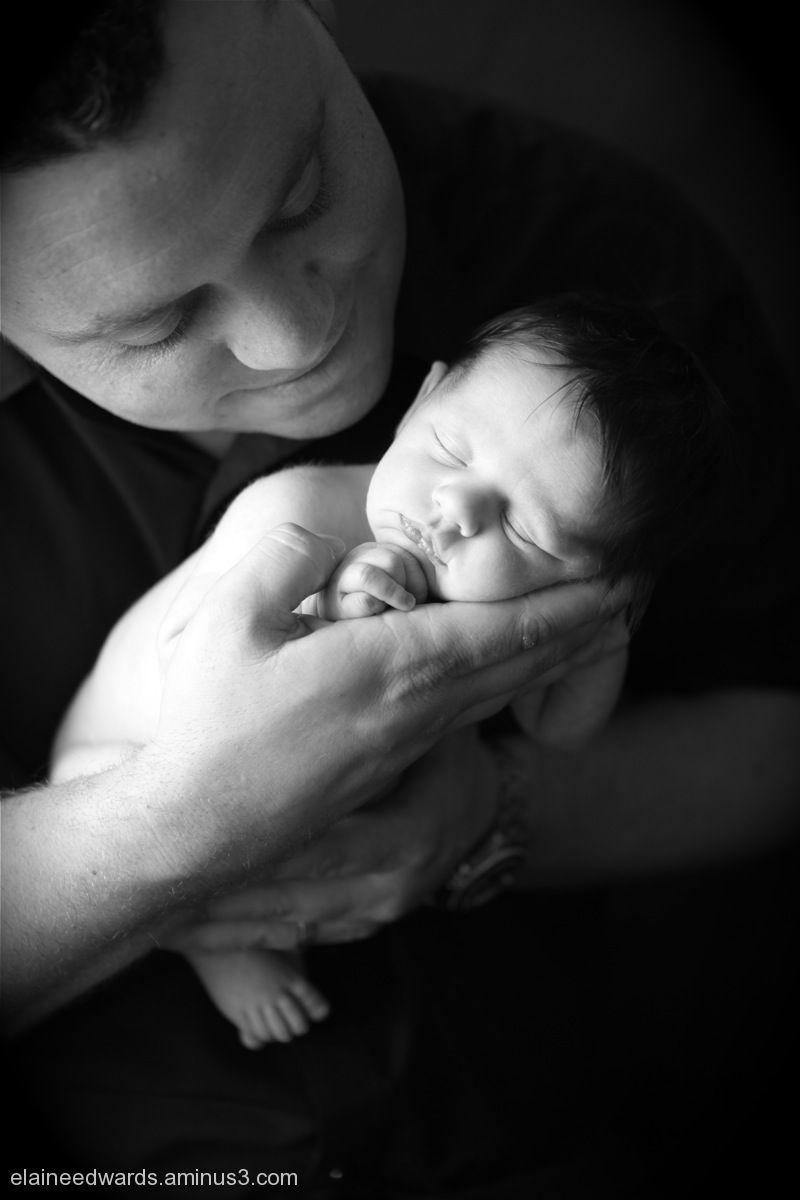 Daddy's baby newborn infant photos