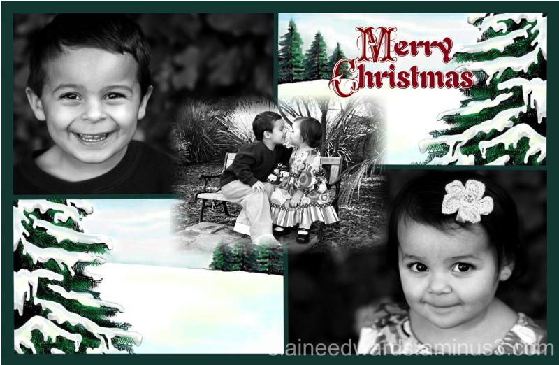 Christmas Holiday Photo Card Family