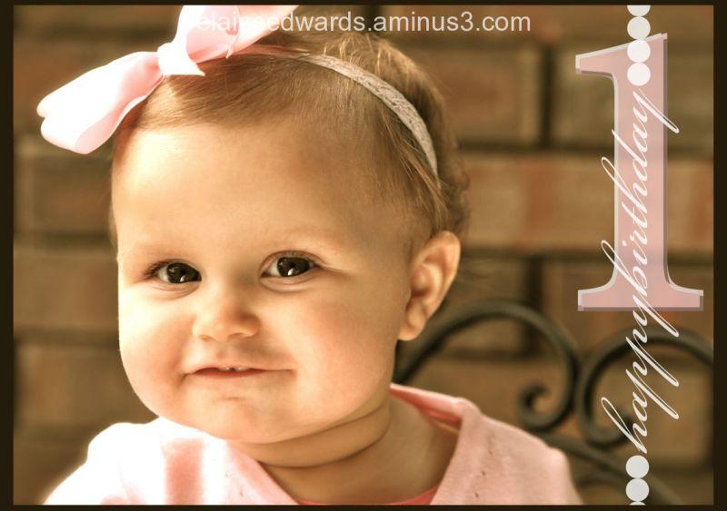 child baby photo one year birthday