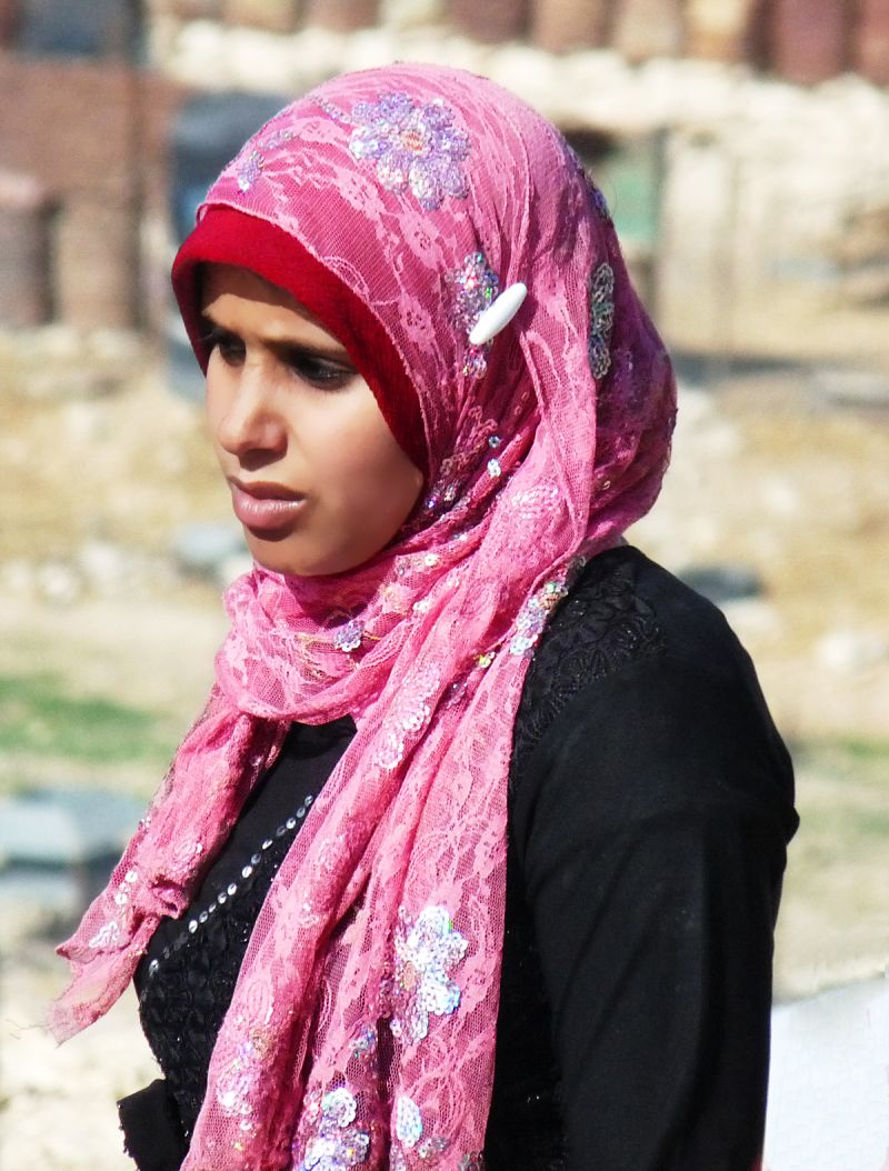 A young Bedouin woman