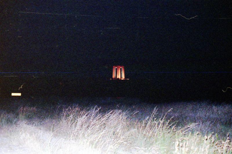 Turkish Monument at night