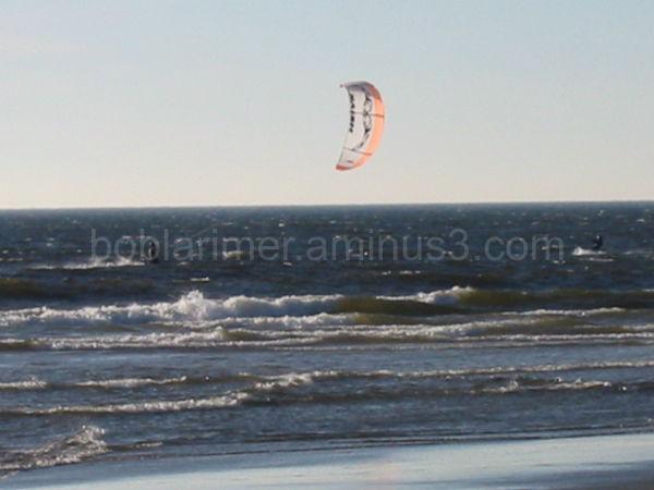 Kitesurfing off the coast of Oregon