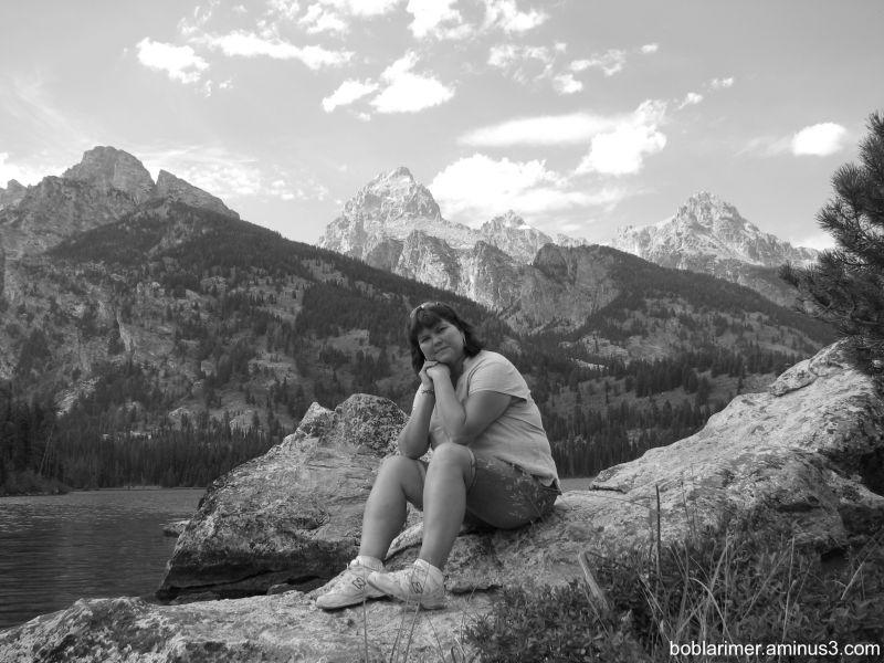 Barb at Grand Tetons