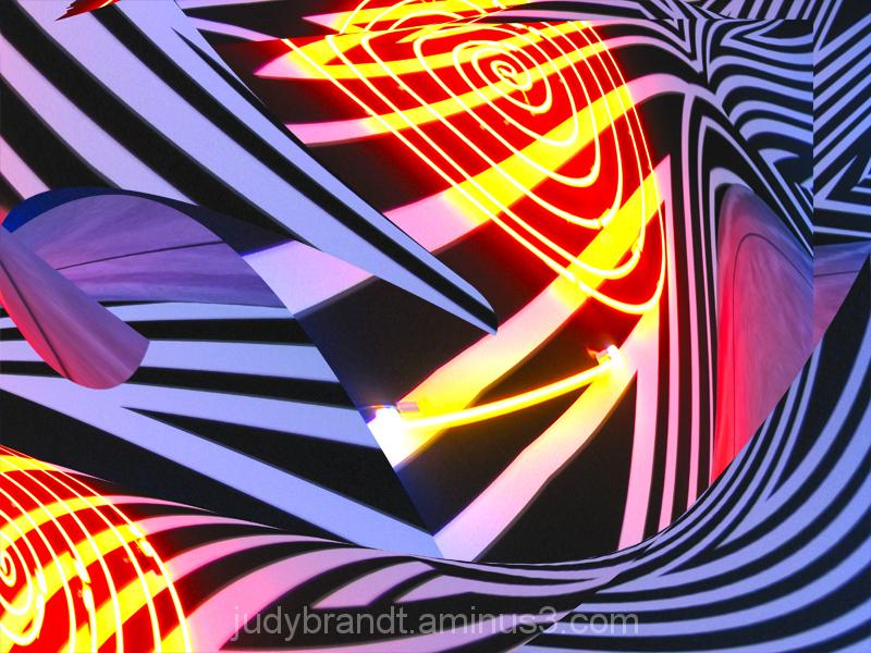 geometric swirls with light