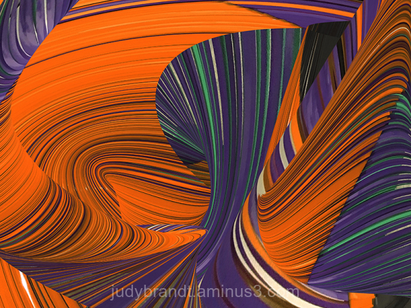 Abstract art fibers in color