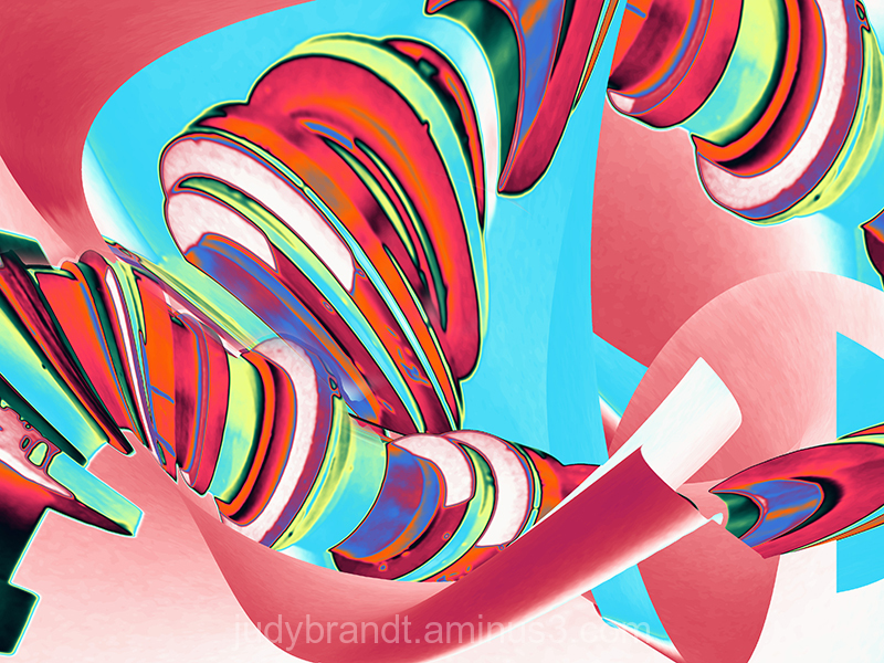 Candy coloured abstract design