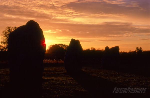 Sunset at Avebury