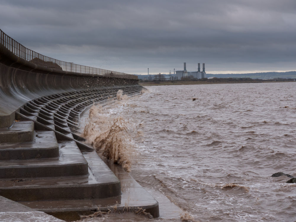 Choppy water at high tide