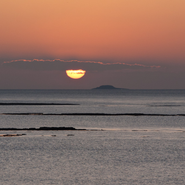 Sunset over Flat Holm in the Bristol Channel
