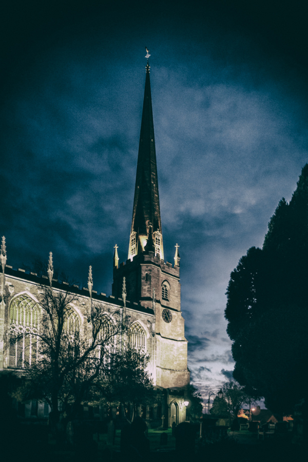 St Mary's, Tetbury, after sunset