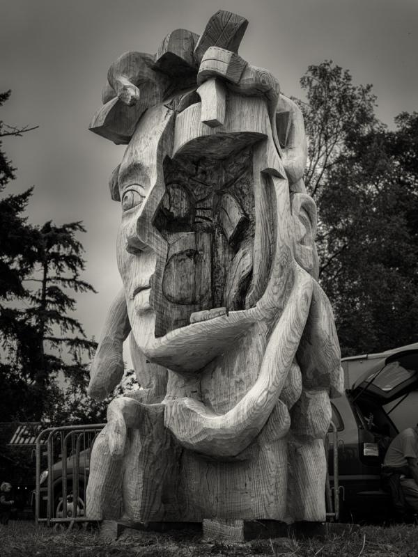Tree Carvings: Medusa