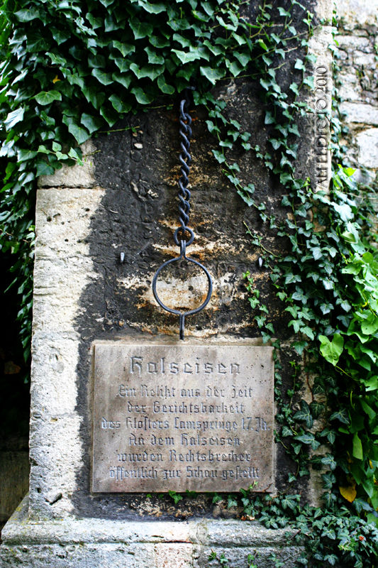 Halseisen bei Kloster Lamspringe im Leinebergland