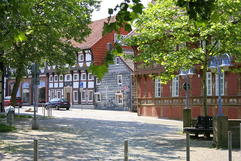 Seminarstrasse mit Lateinschule in Alfeld (Leine)