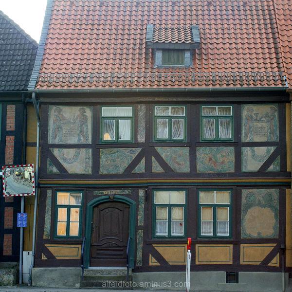 Bemaltes Haus in Wrisbergholzen