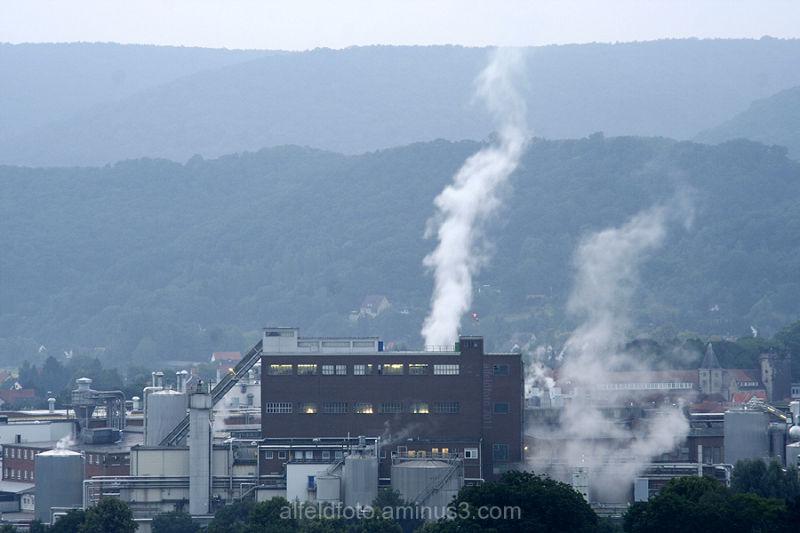 Alfeld, vom Schlehberg aus gesehen (Papierfabrik)