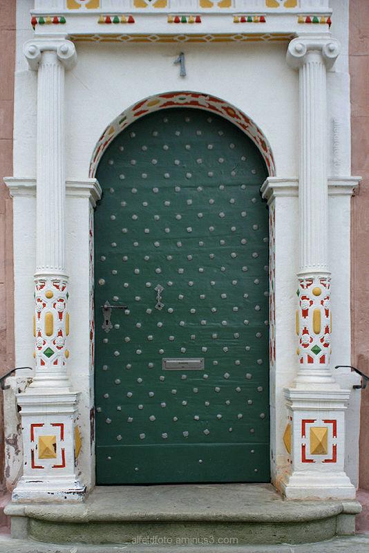 Rathaustür in Alfeld (Leine)