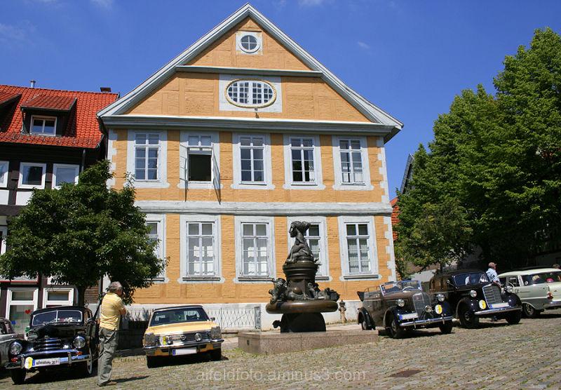 Der Marktplatz in Alfeld (Leine)
