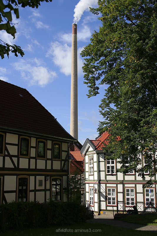 Blick vom Kirchhhof in Alfeld (Leine)