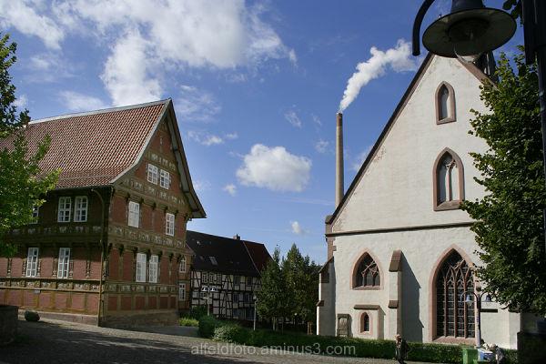 Drei Wahrzeichen in Alfeld im Leinebergland