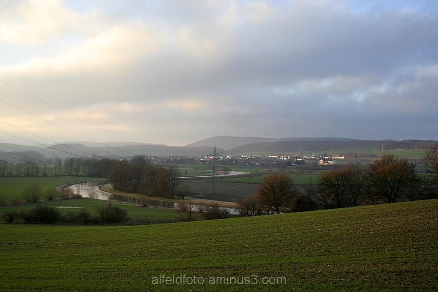 Blick auf Alfeld im Leinebergland