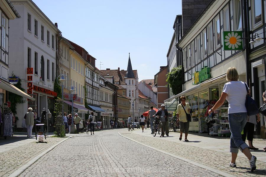 Die Leinstraße in Alfeld (Leine)