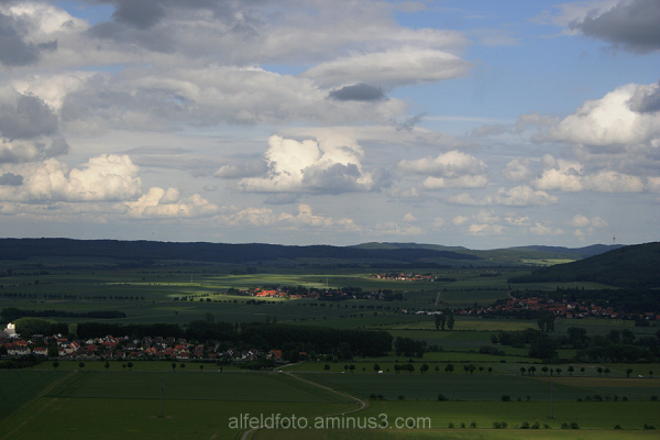 Blick vom Cölle-Turm im Leinebergland